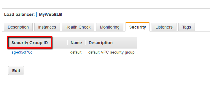 Under Security Group ID column check for missing and invalid security groups