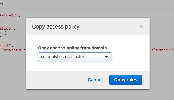 Copy an access policy from another domain