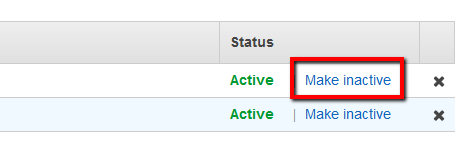 select the outdated (previous) key and click Make Inactive