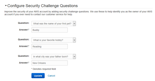 Select three different questions made available by Amazon and provide the appropriate answers to the selected questions