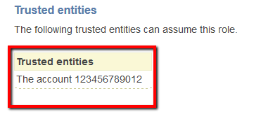 AWS accounts are listed as trusted entities